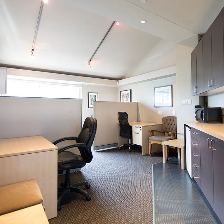 picture of office space for the Yaletown Galleria location