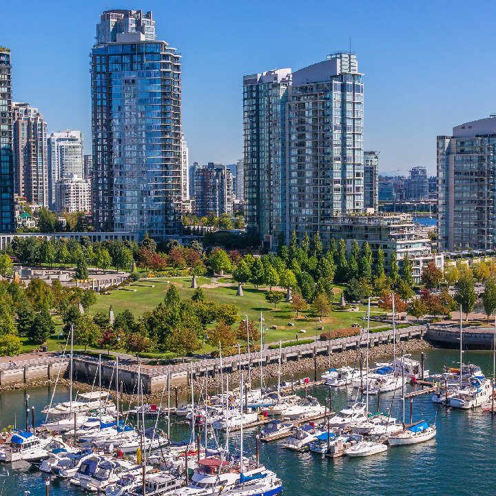 photo of Yaletown Vancouver on a beautiful sunny day. Palagon has the office for you in this area.