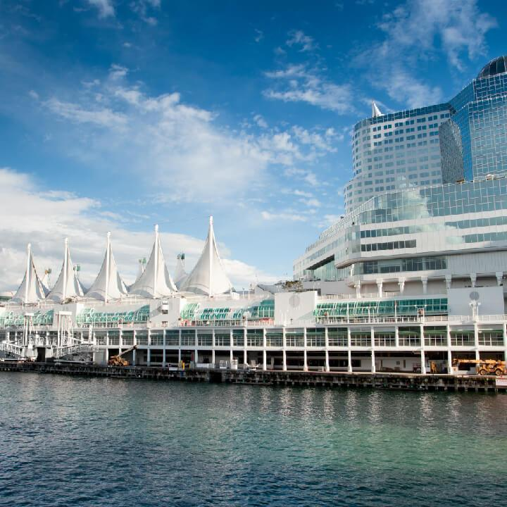 photo of downtown Vancouver on a beautiful sunny day. Palagon has the office for you in this area.