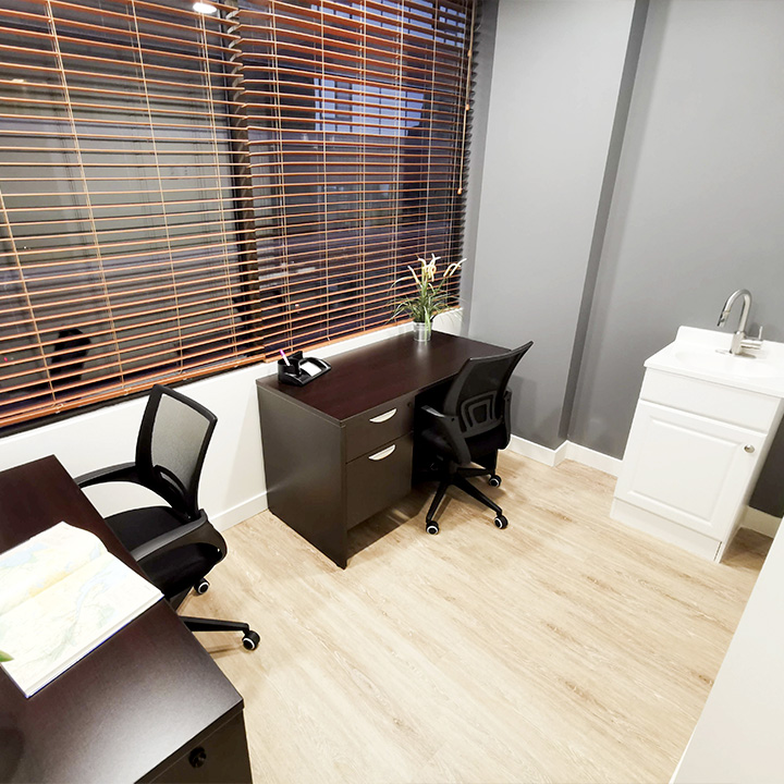 picture of office space for the Burrard Health Centre location